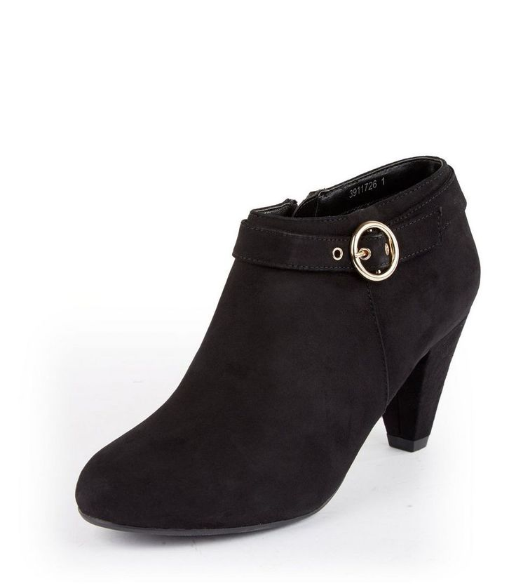 New Look(ニュールック) | New Look Teens Black Suedette Buckle Side Ankle Boots - MILANDA(ミランダ)通販
