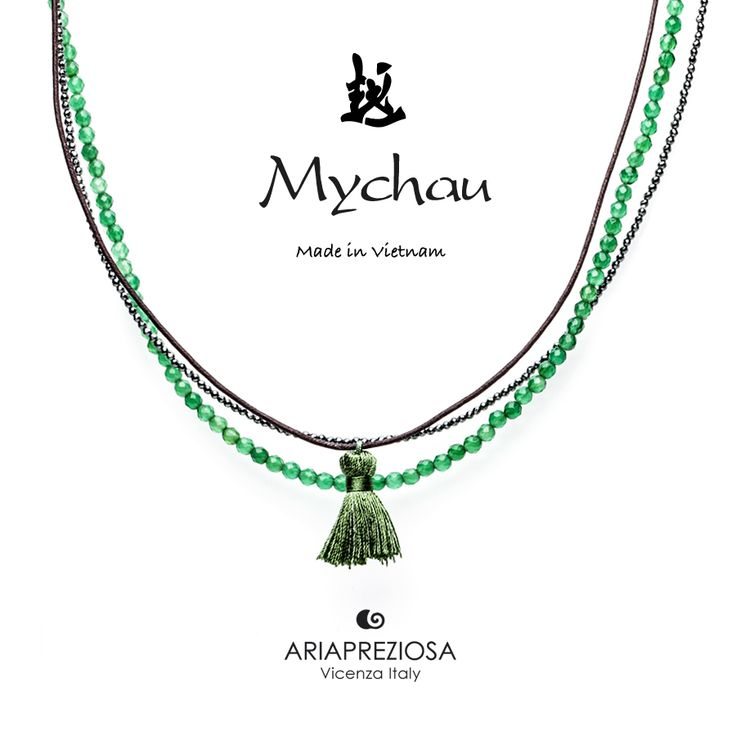 Mychau - Collana Tradizionale Vietnamita Agata Verde