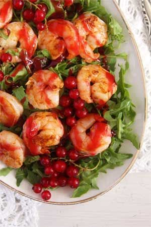 Tiger Prawns with Red Currant Sauce recipe