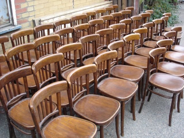 Beau Spindle Style Bentwood Cafe Chairs. Itu0027s Much Easier To Push Together  Smaller Chairs And