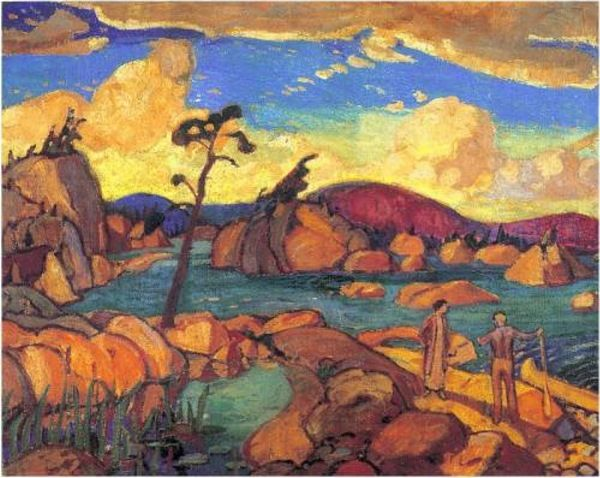 The Happy Isles, Arthur Lismer Canadian, Member of The Group of Seven 1885 - 1969