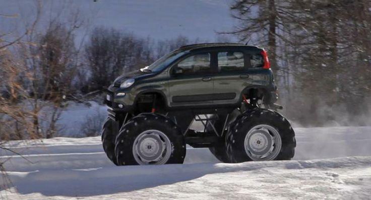 fiat panda 4x4 monster truck | panda fiat panda 4x4 ska saeljas i sverige provkoerning fiat panda 4x4 ...