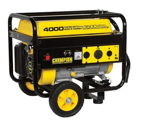 During a power outage you may need a portable generator to keep your sump pumps running in order to prevent flooding. This Champion generator is a nice size to keep one or two sump pumps working for days if you need that long.