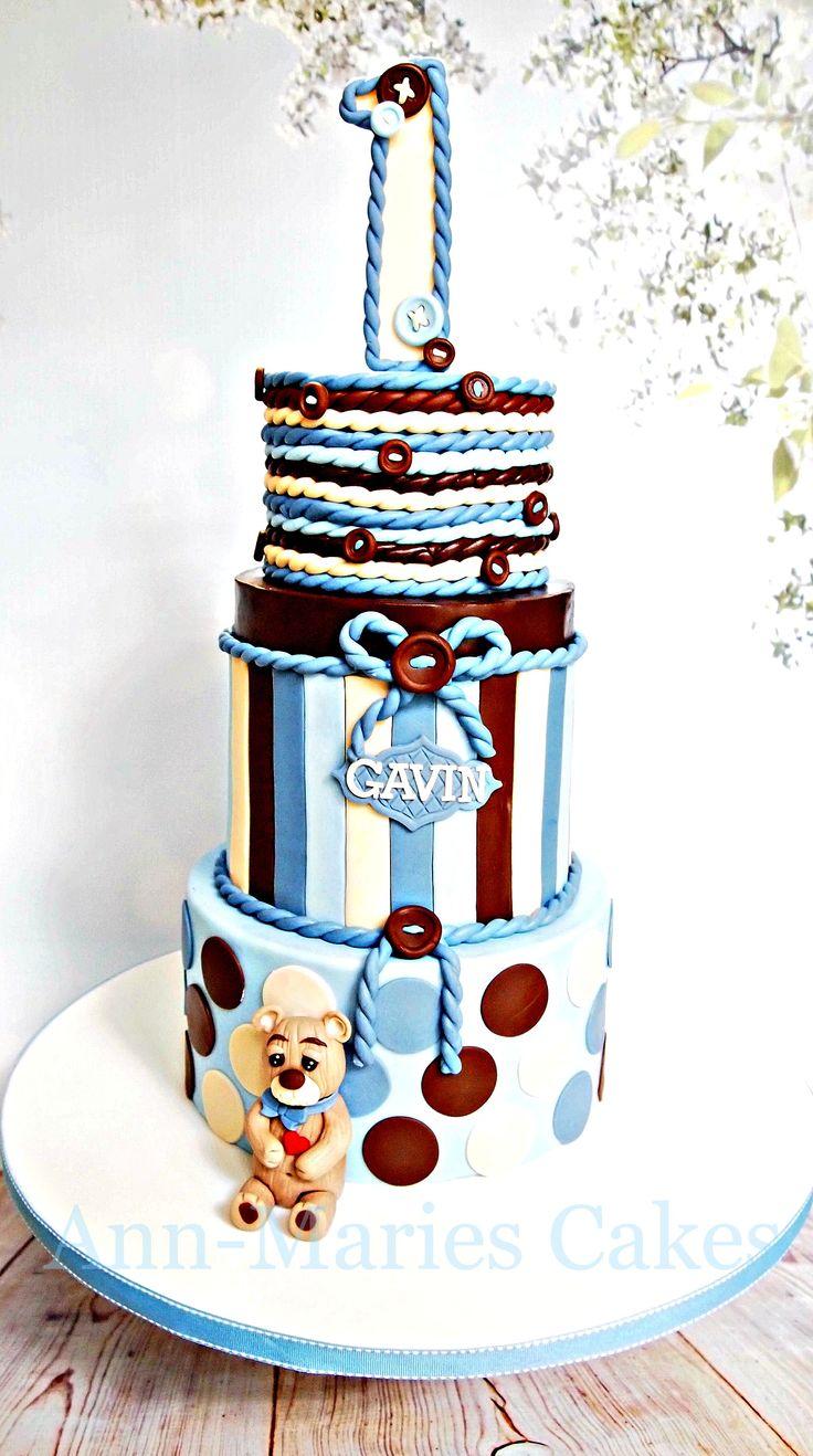 Gavin's 1st Birthday - Gavin's 1st Birthday white chocolate raspberry swirl cake, fresh raspberry filling, white chocolate ganache. You can tell how humid it is hereby the sheen on my cake. LOL