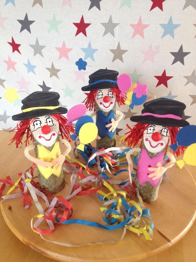 Kleine Clowns Im 3 Er Pack Holzdeko