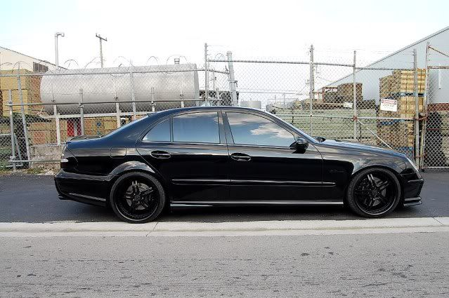 Mercedes E55 AMG Blacked Out - Teamspeed.com