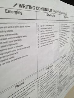 Madame Belle Feuille: évaluation - l'écriture et la lecture, writing continuum k-12 make report card writing a breeze
