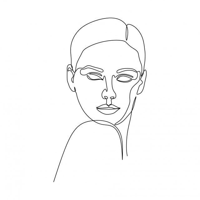 Abstraktnoe Lico Devushki Nepreryvnoe Risovanie Odnoj Linii Minimalizm Dizajn Na Belom Fone Lico Devushki Klipart Devushka Lico Png I Vektor Png Dlya Besplatnoj Abstract Girl Face Line Art Drawings Line Drawing