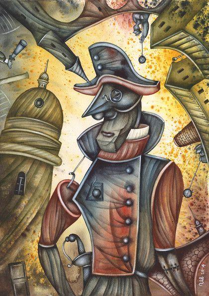 Mr. Tartaglia by Eugene Ivanov #cirque #circus #clown #clownery #illustration #eugeneivanov #@eugene_1_ivanov