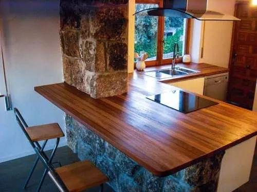 desayunador de madera, barra, tabla, estante
