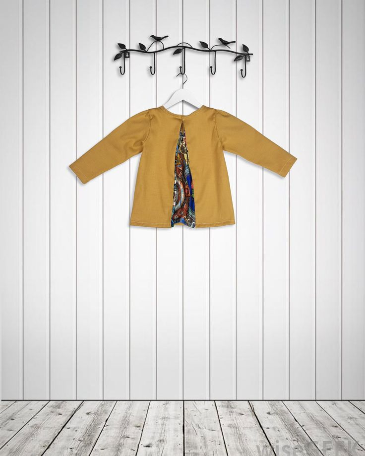 Materials: Heavy gauge cotton body, Polyester Satin Inlay Only 4 in each size will be made for babies and toddlers. Mustard smart blouse for babies and toddlers