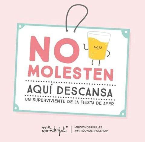 No molesten #mrwonderful