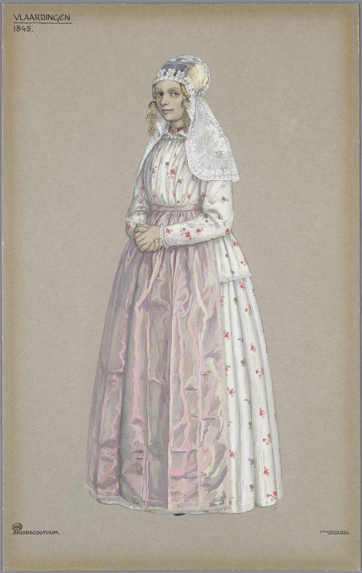 Vlaardingen, 1845. Bruidscostuum #ZuidHolland #Vlaardingen