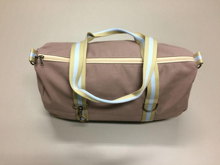 mod.18 - soft powder pink bag - cream/light blue/cream stripes