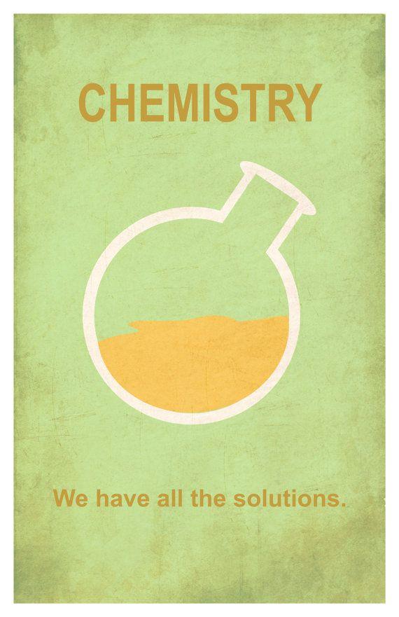 Química minimalismo de 11 x 17 poster print por EskimoChateau