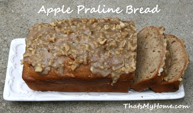 Recipes, Food and Cooking » Apple Praline Bread