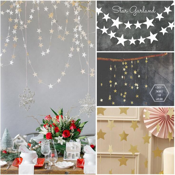4m Star party decoration Paper garlands wedding screen decor blue gold silver select-in Event & Party Supplies from Home, Kitchen & Garden on Aliexpress.com | Alibaba Group