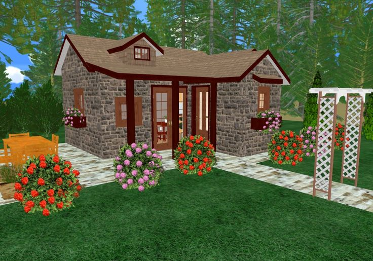 Tiny romantic cottage house plan cozy cottage house for Cozy home plans