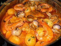 Cazuela marinera de pescado | seafood casserole #recipe