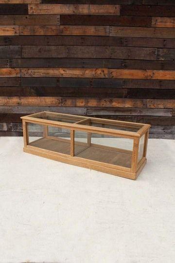 ◆003-15726M◆卓上ガラスケース◆木とガラスのコンビネーションが美しいガラスケースです。 コレクションケースやショップのショーケースとしても活用いただけます。