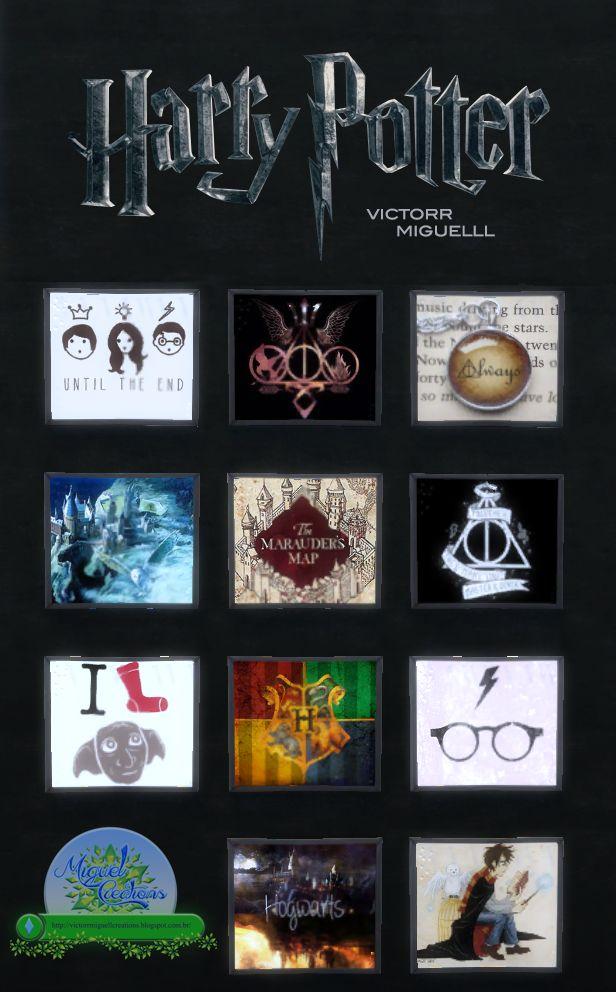 Miguel Creations TS4: Quadros Harry Potter