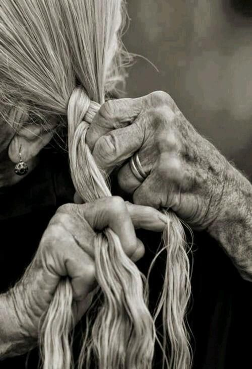 The art of braiding. Love the hands~