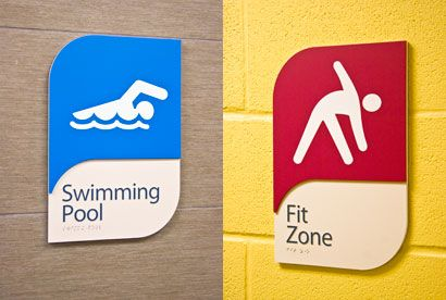 Sign Media Canada - Wayfinding revamped for Brampton rec centre