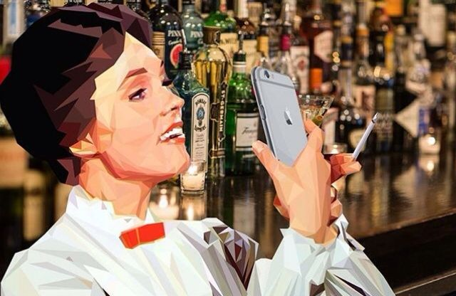 Mary Poppins at New Years taking a selfie by A2 student Philip Hawkins! #fsfcfineart