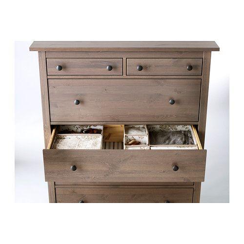 ikea hemnes nightstand gray brown. Black Bedroom Furniture Sets. Home Design Ideas
