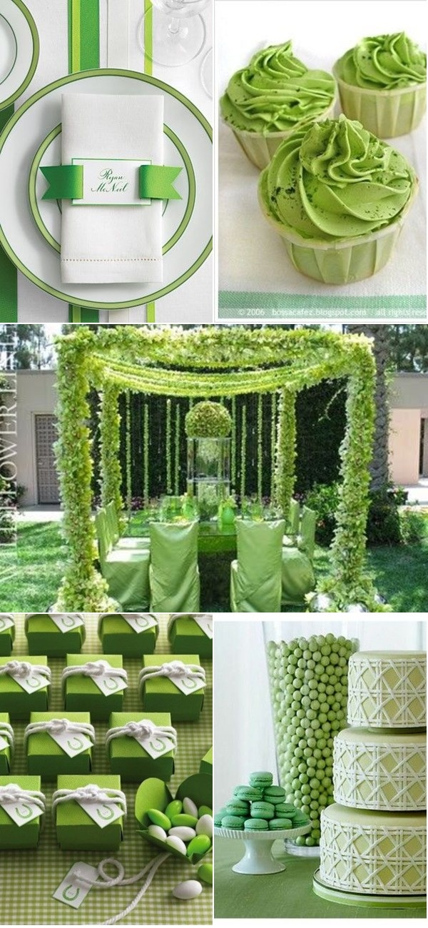 Green Wedding <3<3 ADD diy green wedding www.customweddingprintables.com