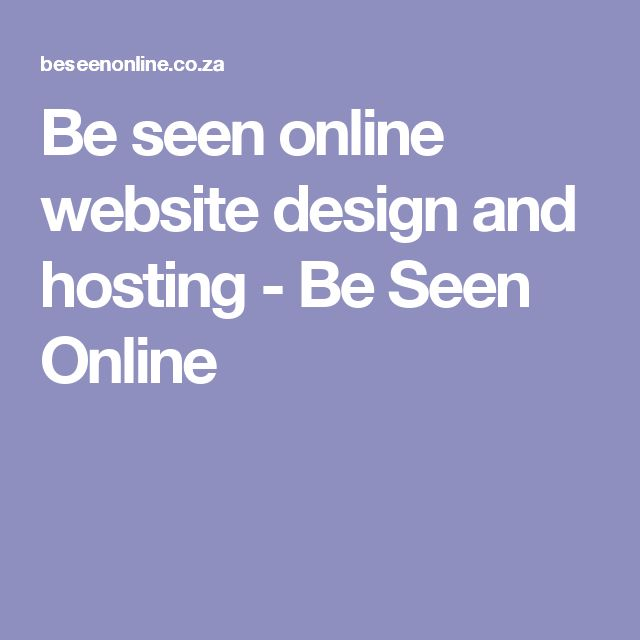 Be seen online website design and hosting - Be Seen Online