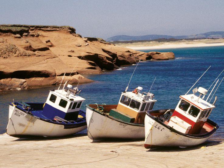 Bateaux de pêche, Îles-de-la-Madeleine,