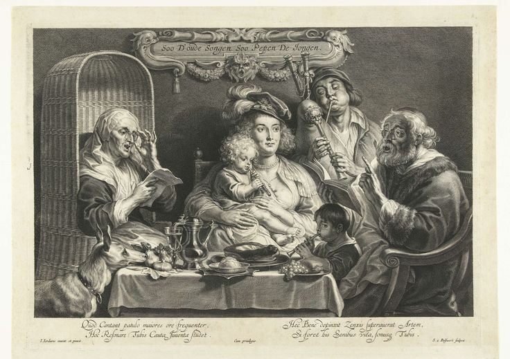Zo de ouden zongen, zo piepen de jongen, Schelte Adamsz. Bolswert, unknown, 1638 - 1659