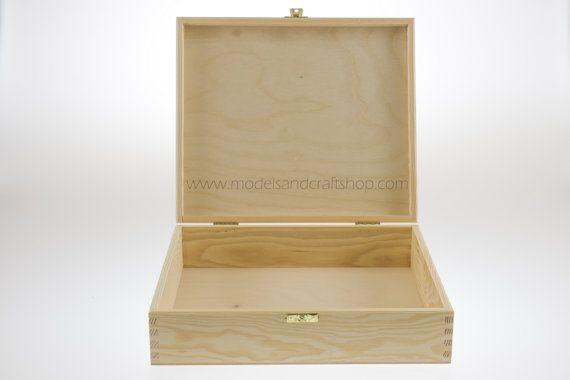 Unfinished wood box 25x29x7.5cm, keepsake box, rustic wedding, wooden boxes, vintage wedding, gift box, jewelry box,  for pyrography #3281
