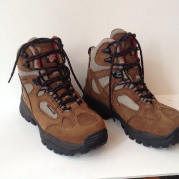 Red Wing Hiking Boots Item 57653. Brand-new, never worn Vibram soles. Made in China. Stock number 2375. Red Wing Shoes Shoes