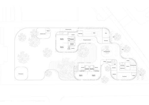 Forfatterhuset kindergarten in Copenhagen, ground floor plan