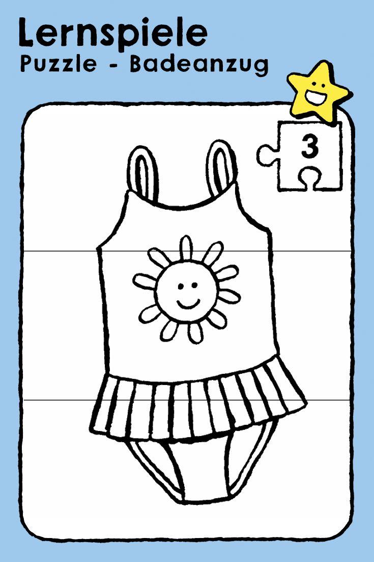 puzzle  badeanzug  ausmalbilder zum ausdrucken