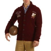Rugby sweater buttoned style sportswear with embroidery and elbow pads for men.