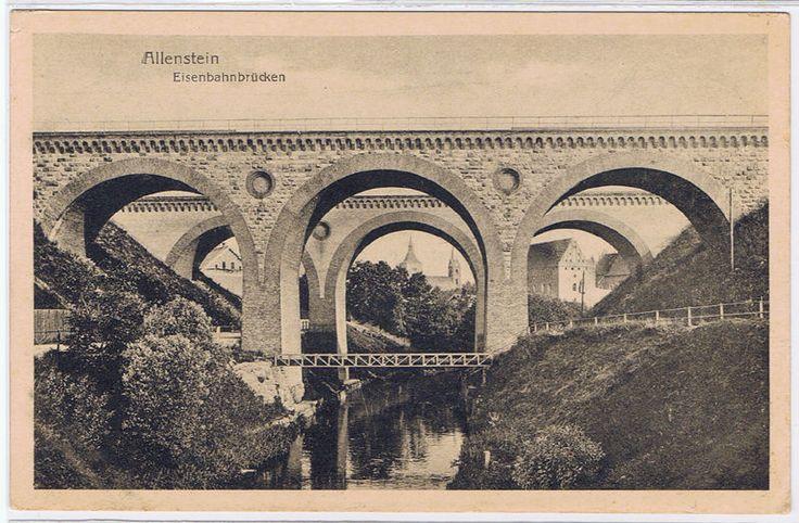 Allenstein-Olsztyn,Ostpreussen,Eisenbahnbrücken