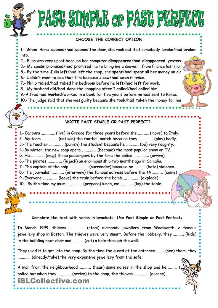 Past perfect worksheet - Free ESL printable worksheets made by ...