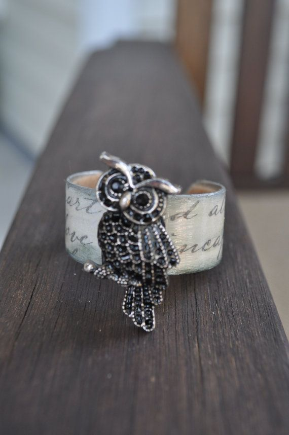 Sweet Owl Chic Style Childs Cuff Bracelet With by freedomdivine, $10.99