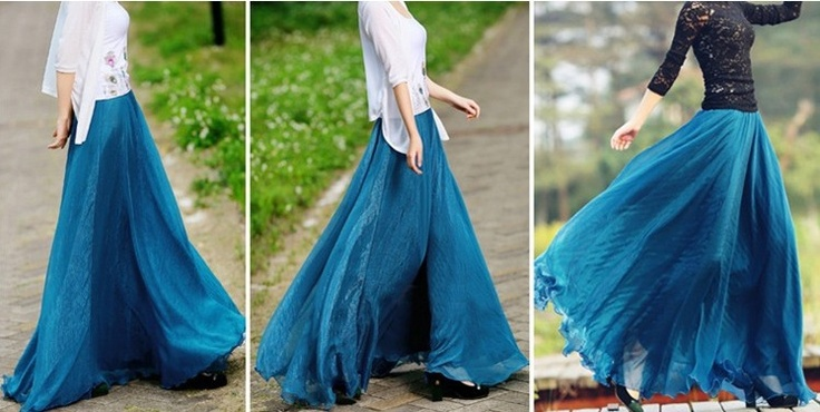 Aliexpress.com : Buy 5928 8 meters expansion bottom fashion long skirt fairy skirt summer chiffon bust skirt on Mom! Please, say yes!!!. $25.99