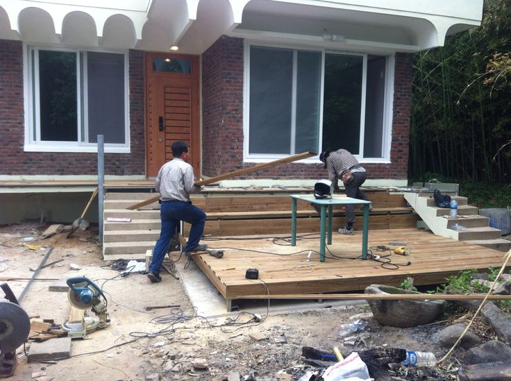 Building the deck.