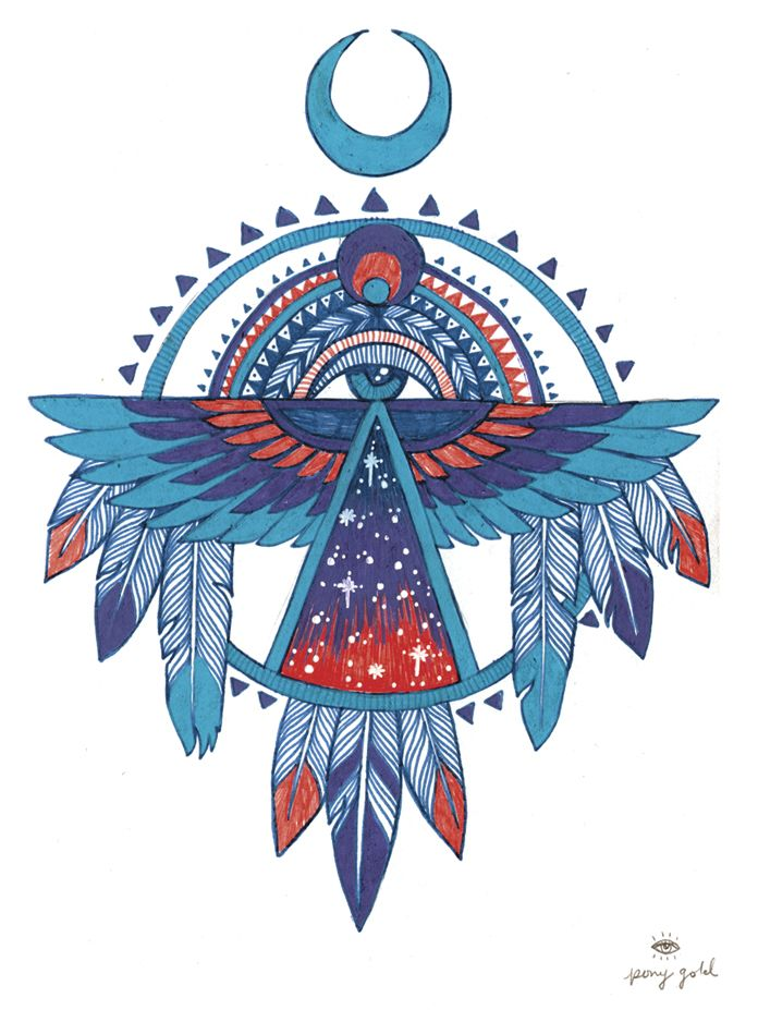 ☮ American Hippie Art ~ All Seeing Eye .. Native