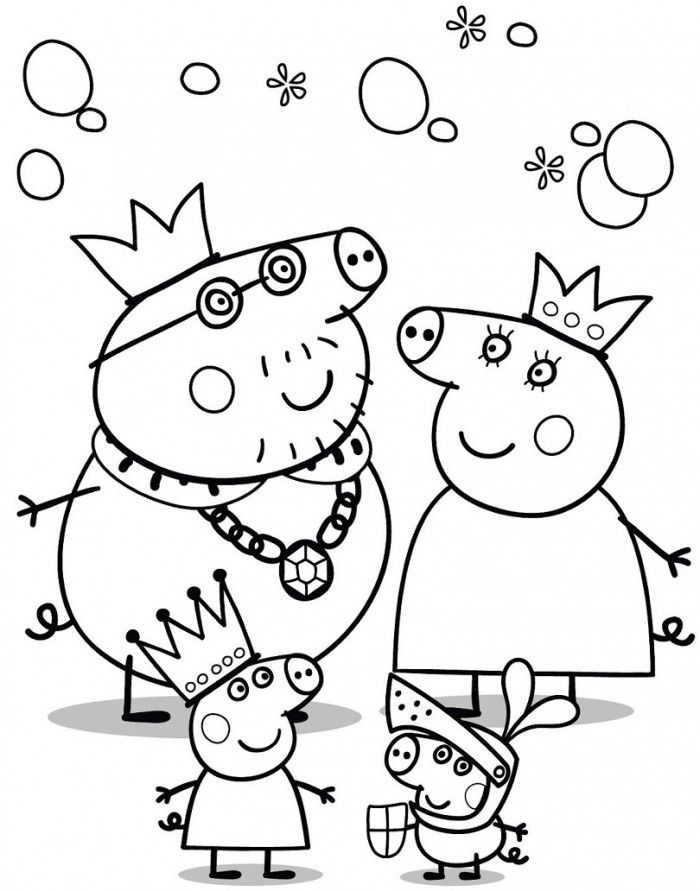 Printable Peppa Pig Coloring Pages Free Coloring Sheets Peppa Pig Coloring Pages Peppa Pig Colouring Family Coloring Pages