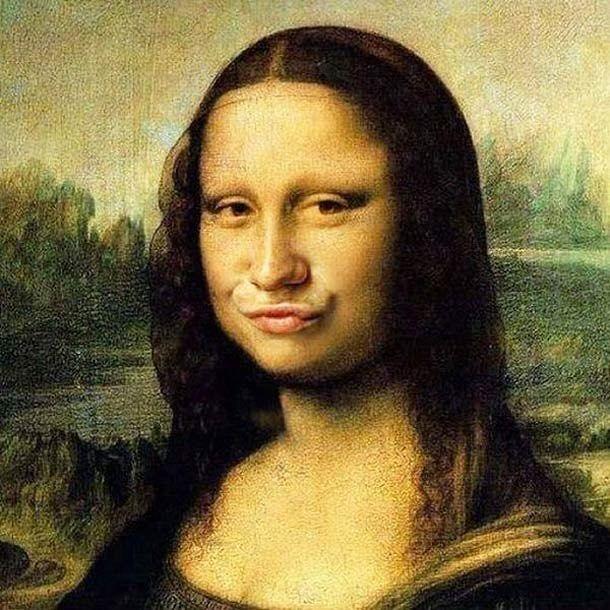 Thank you photoshop ! #joconde #art #davinci #adobe  #duckface #socialmedia