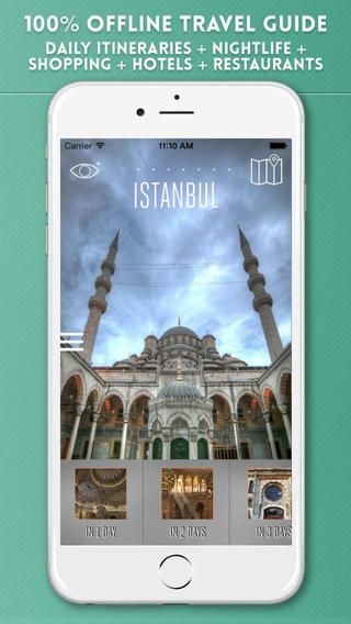 Useful Istanbul Travel Guide with Augmented Reality: https://itunes.apple.com/us/app/istanbul-travel-guide/id351054129?l=en&ls=1&mt=8
