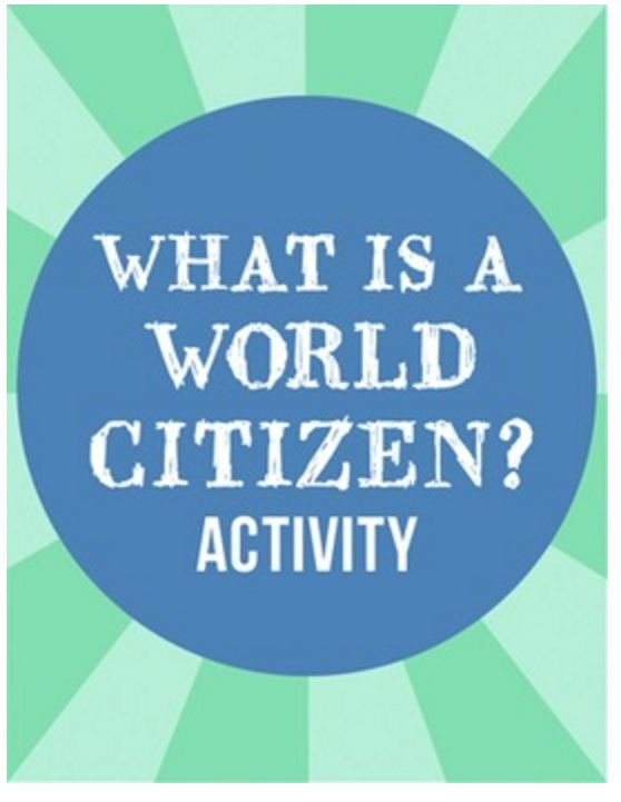 World Citizen Global Citizenship Activity Kids- Kid World Citizen
