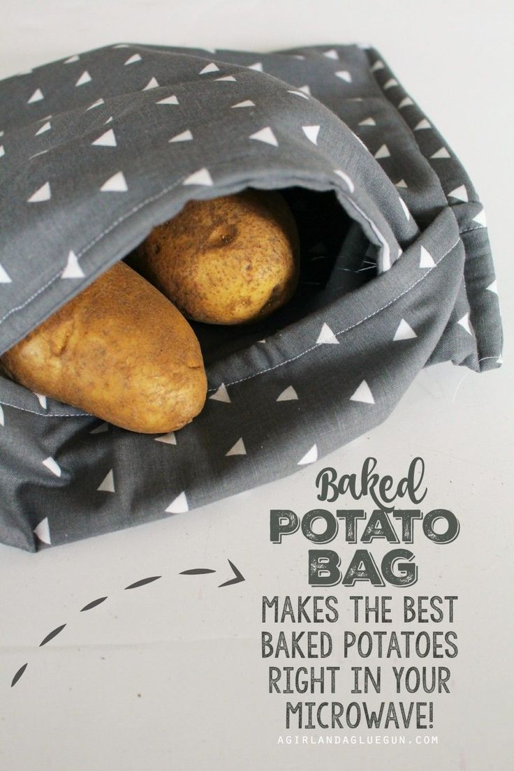 Baked potato Bag-- make the softest and yummiest baked potatoes right in your microwave!