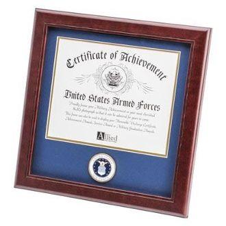 us air force medallion certificate frame